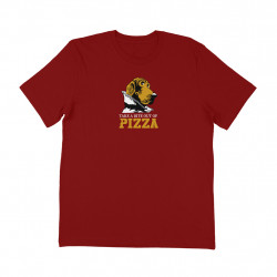 PIZZA TEE GRUFF - CARDINAL