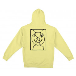 KROOKED HOODIE MOON - LIGHT YELLOW