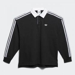 ADIDAS POLO SOLID - BLACK WHITE
