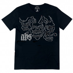 ABS TEE CHIENS - BLACK