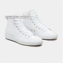 CONVERSE SHOE CTAS PRO HI - WHITE WHITE WHITE
