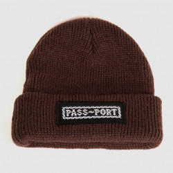 PASSPORT BEANIE BARBS - BROWN