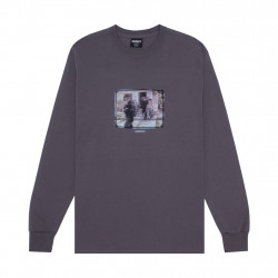 HOCKEY TEE LS NO FACE - GREY HEATHER