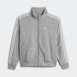 ADIDAS JACKET BOUCLE - MELANGE GREY WHITE